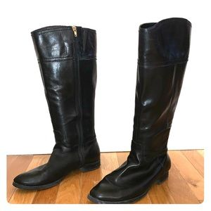 Audrey Brooke Wide Calf Tall Leather Boots